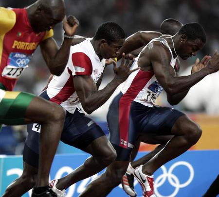 图文:奥运田径男子百米决赛