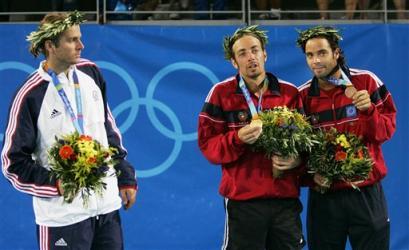 图文:奥运花絮图片 你们俩不要太甜蜜