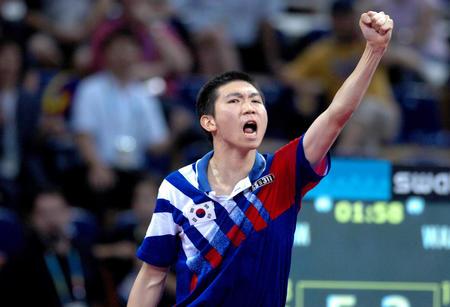 图文:乒乓球男子单打决赛