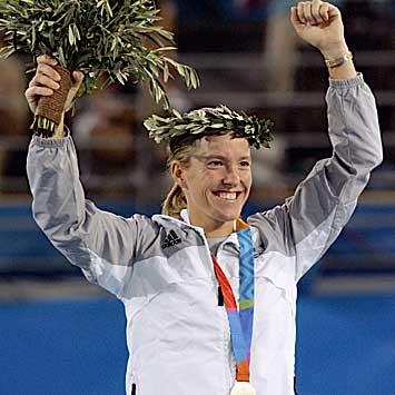 图文:女网头号选手比利时人海宁夺取女单冠军