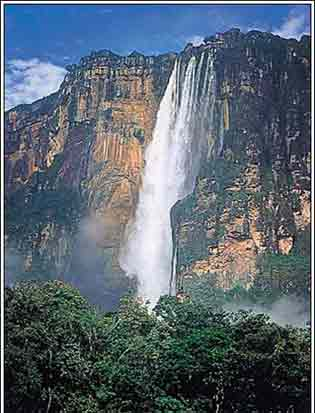 地理之最:世界最大落差的瀑布安赫尔瀑布(图)