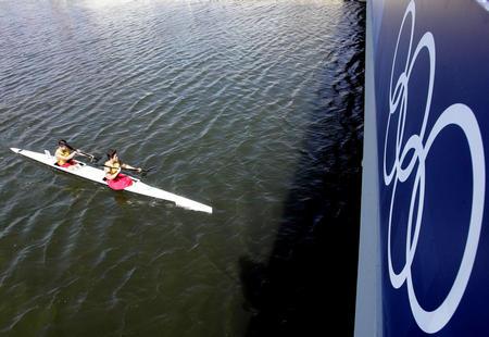 图文:奥运女子双人500米