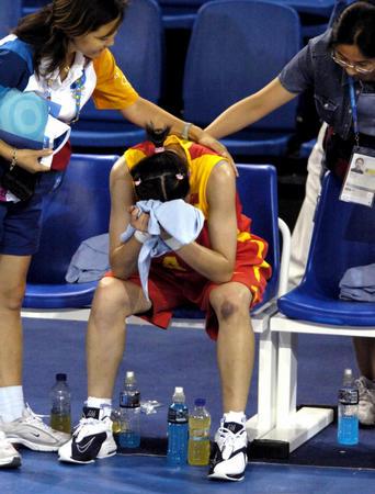 中国女篮胜日本 宋晓云赛后伤心痛哭