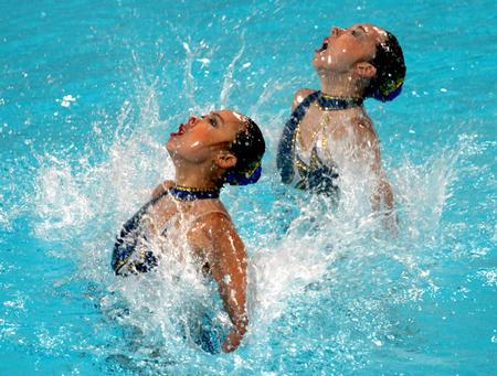 图文:花样游泳
