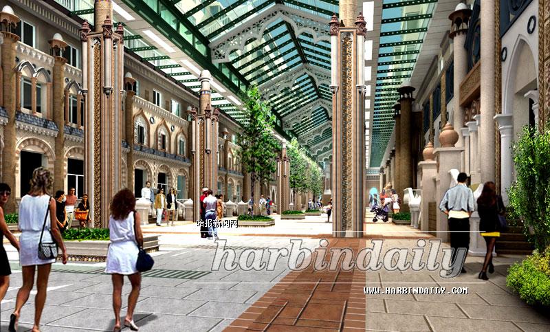 8月24日,黑龙江省首条敞开式棚蔽步行街在哈尔滨市南岗区开始兴建,将与果戈里大街二期改造及辅街改造同步进行。   该街选址为人和街、果戈里大街至光芒街区段,全长100米。敞开式棚蔽步行街改造建设主要对道路进行高标准铺装,变为敞开式步行街,上端加防火钢化玻璃棚盖,整饰建筑楼体外立面和一层商服用房门脸。将设16根装饰石柱,采用镂空石雕。墙面主要采用欧式风格进行装饰。   改造工程将于9月底完工,与果戈里大街以及女人街、儿童街、电子街等景观特色街路联结成片,将成为哈市又一道亮丽的风景线。郑 雷本报记者王 东