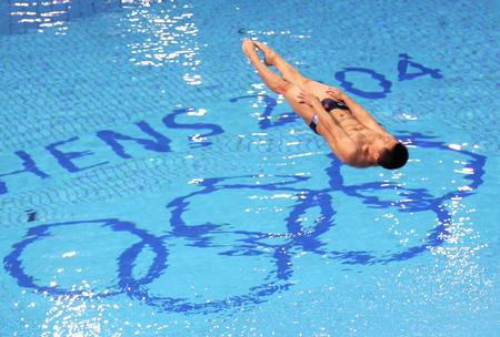 图文:跳水男子三米板