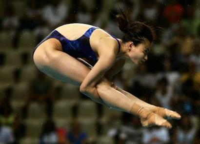 图文:女子三米板预赛 郭晶晶晋级决赛