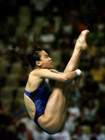 图文:女子三米板预赛 吴敏霞晋级决赛