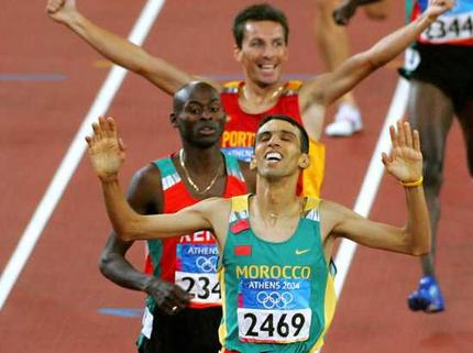 图文:摩洛哥英雄奎罗伊夺取1500米冠军