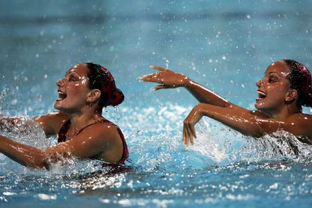 图文:双人花样游泳