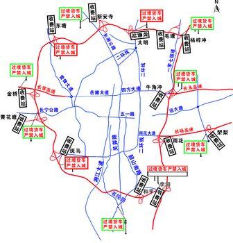 长沙全天候禁止过路车入城(图)