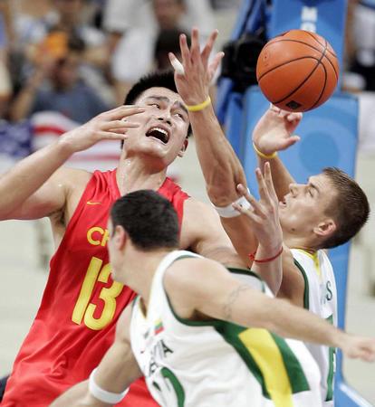 图文:中国男篮四分之一
