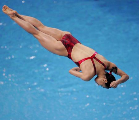 图文:女子三米板跳水决赛