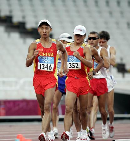 图文:男子50公里竞走