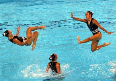 图文:奥运花絮图片 水上激战