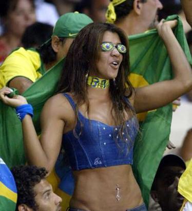 图文:奥运花絮图片 巴西,我的眼里只有你