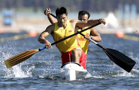 图文:双人划艇500米赛
