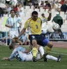 图文:阿根廷男足夺冠 比赛中1