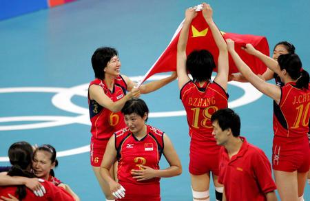 图文:中国女排夺冠