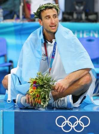 图文:奥运花絮图片 冷冷坐禅