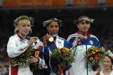 图文:女子1500米颁奖仪式
