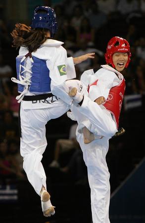 图文:跆拳道女子67公斤以上级