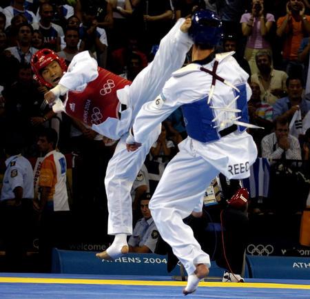 图文:跆拳道男子80公斤级