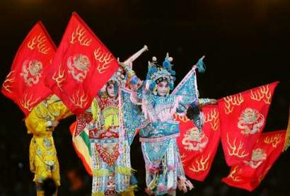 图文:雅典奥运会闭幕式 中国京剧表演