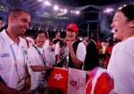 图文:奥运会闭幕式 刘亚男笑容灿烂