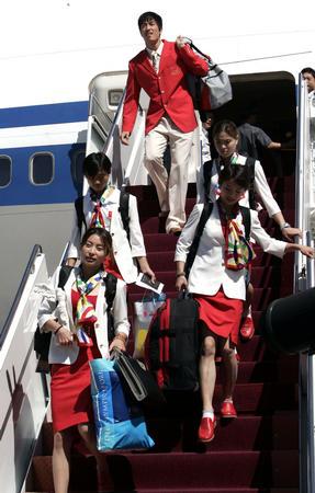 [奥运](1)中国奥运军团抵京