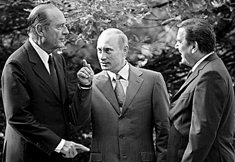 俄德法首脑在索契举行会晤(图)