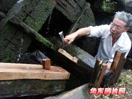 """浙江宁波:千年""""汪家水磨""""再现余姚古镇(组图)"""