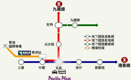 (港岛线金钟地铁站)