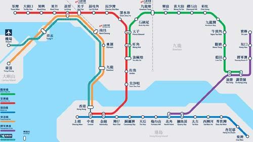 便游服务:香港地铁各条线路完全站点(图)