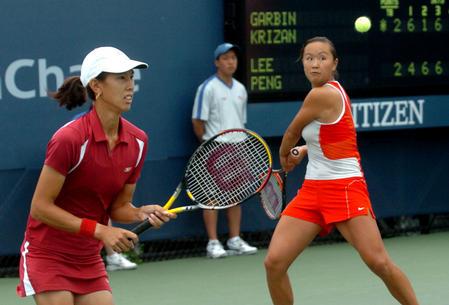 [体育](3)网球--彭帅/李惠芝晋级美网八强