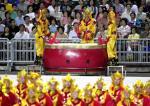 图文:奥运金牌精英大汇演 威风锣鼓