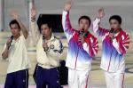 图文:奥运金牌精英大汇演 乒乓健儿合演
