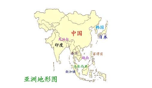 日本国土组成手绘图