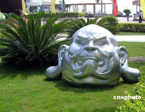 喜怒哀乐抽象雕塑
