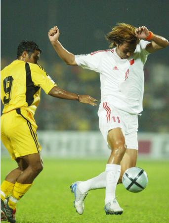 图文:预选赛中国队对马来西亚