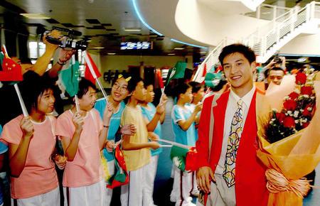 [奥运](1)奥运金牌代表团抵达澳门