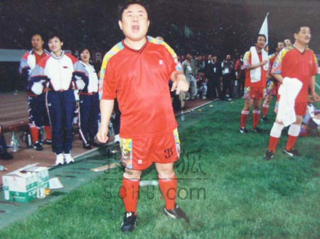 图文:中国明星足球队精彩图片-92