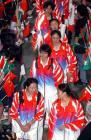 图文:金牌代表团结束澳门之行 代表团进入机场