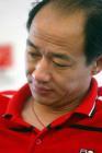 图文:第九轮山东平青岛 汤乐普在新闻发布会上