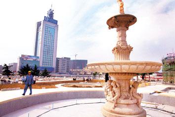 叠水喷泉,欧式景观亭