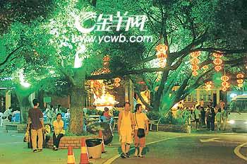 白云山和文化公园中秋灯饰将亮丽迎客(图)