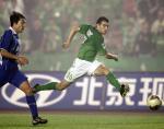 图文:北京现代2-0胜国际 耶利奇在比赛中射门