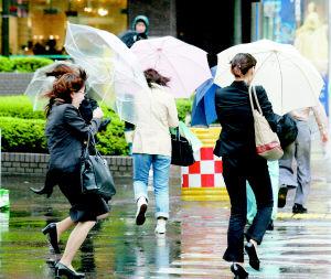 """台风""""米雷""""袭击日本(图)"""
