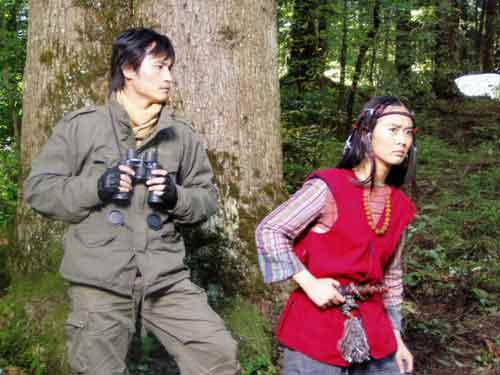 耿乐柯蓝走入《神农架》 原始森林找野人(图)图片