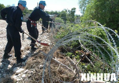 组图:中国维和部队开建海地新营地